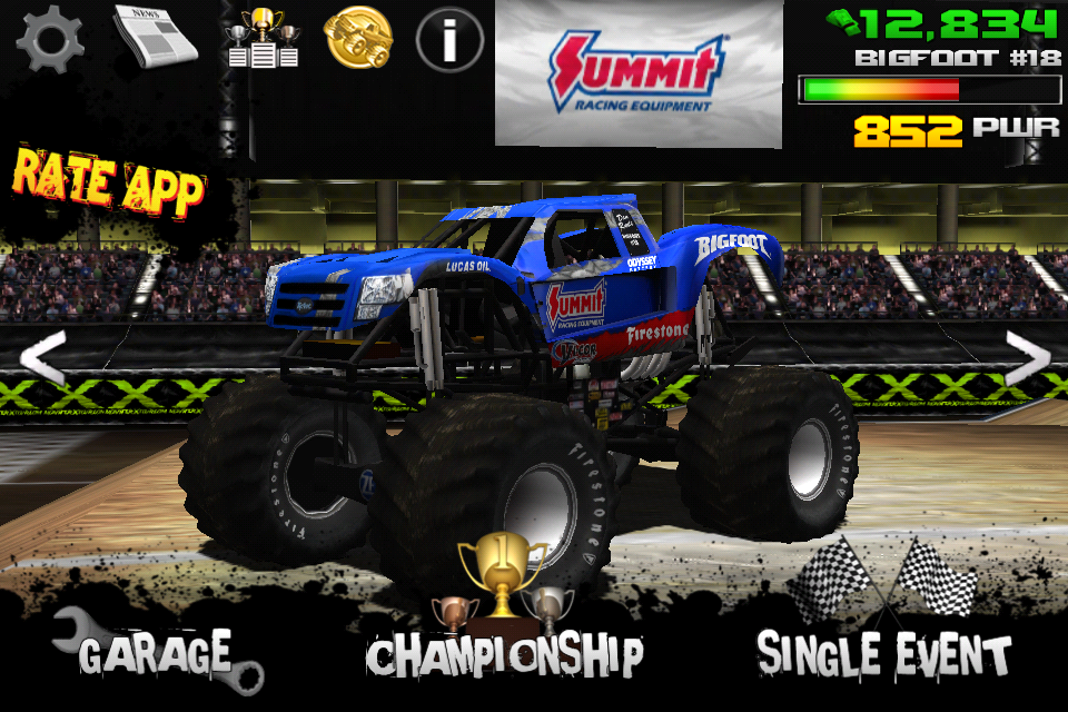 monster truck destruction ios review. Black Bedroom Furniture Sets. Home Design Ideas