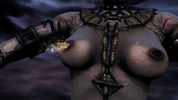 Dante's Inferno Cleopatra Naked Nipple Explosion Imps