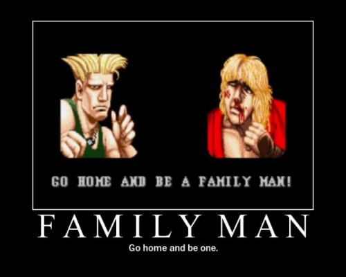 Guile and Ken Family Man