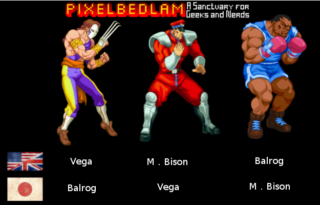 Street Fighter Renames Names Explained Balrog Bison Vega