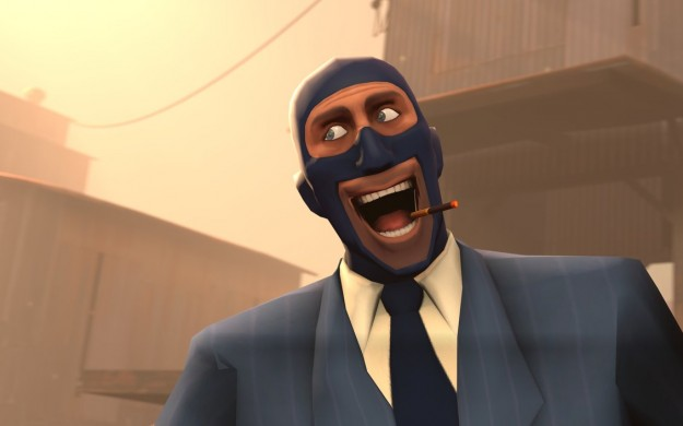 Spy Team Fortress 2 Smoking Smoke Happy Derp