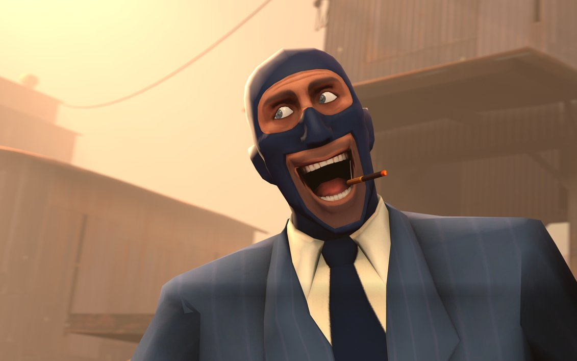 » Spy Team Fortress 2 Smoking Smoke Happy Derp