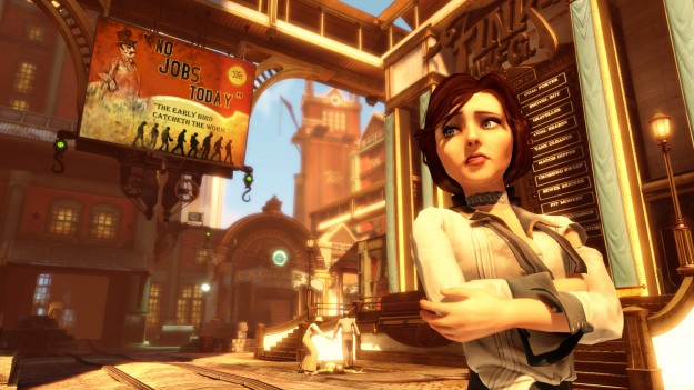 Bioshock Infinite Elizabeth Escort Game Screen