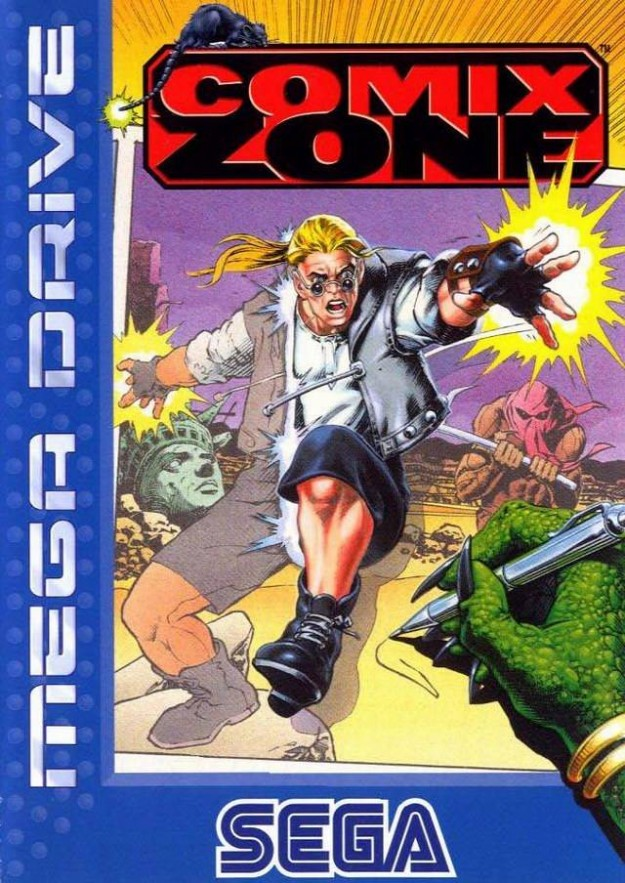 Comix Zone Mega Drive Box Art EU PAL