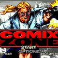 Comix Zone Mega Drive Menu Screen Art