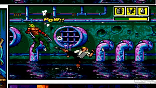 Comix Zone Mega Drive Screen Fighter Art Shot Review Retrospective Genesis
