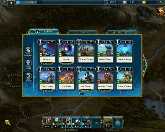 Prime World Defenders inventory screen cap