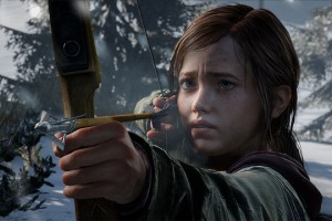Ellie Last of Us Hunting Snow Winter David