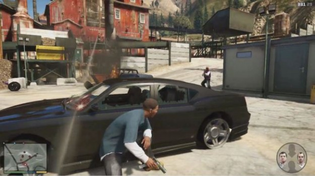 GTA V Guns cars shootout gameplay HD