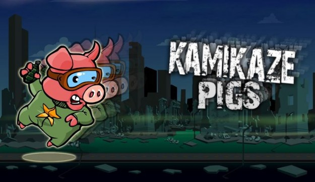 Kamikaze pigs title screen