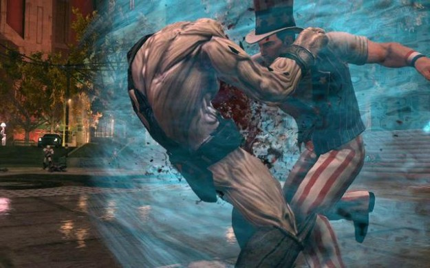 Saints Row IV Uncle Sam Costume Super Powers Punch