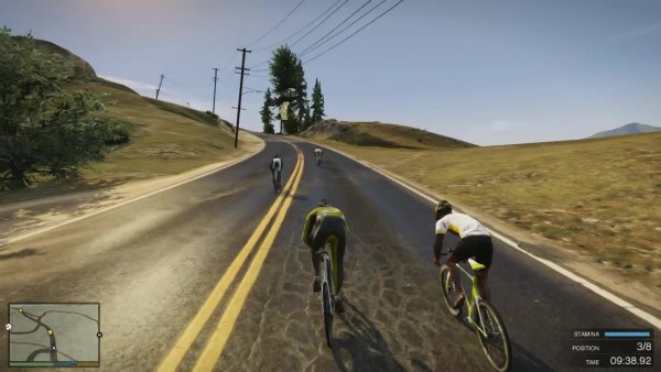 GTA V cycling