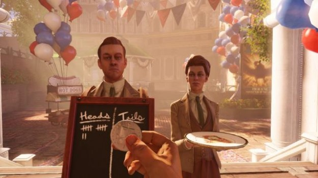 Bioshock Infinite Coin Toss Lutece Twins Dimensions Choice