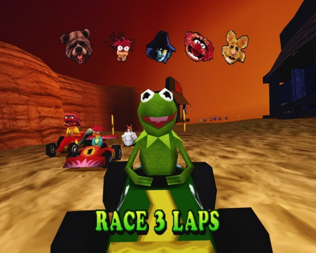 Muppets RaceMania Kart Racer PS1 PSone Playstation