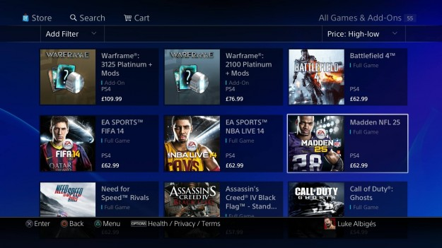 Expensive PSN Games UK