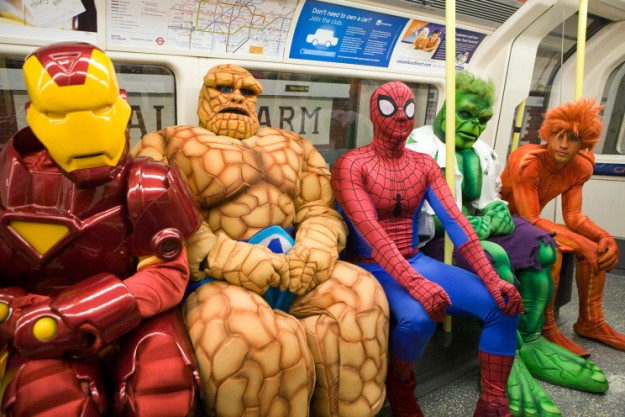 Marvel Heroes on the Tube